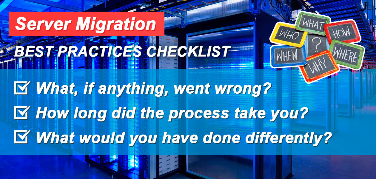 Server Migration: Best Practices Checklist - SLICE